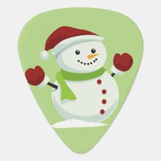 Holiday Cheer Christmas Festive Santa Snowman Guitar Pick