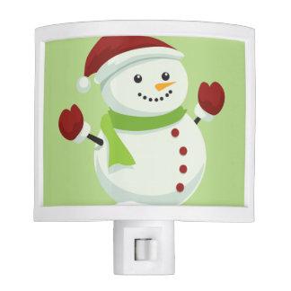 Holiday Cheer Christmas Festive Santa Snowman Night Lights