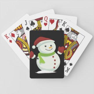 Holiday Cheer Christmas Festive Santa Snowman Playing Cards