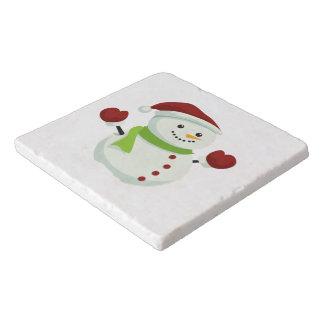 Holiday Cheer Christmas Festive Santa Snowman Trivet