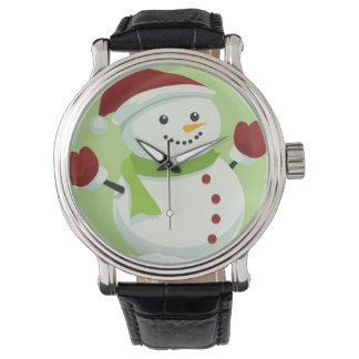 Holiday Cheer Christmas Festive Santa Snowman Watch