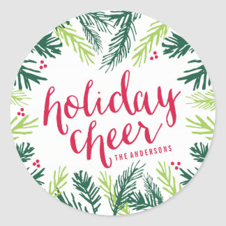 Holiday Cheer | Gift Tag Stickers