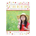 Holiday Cheer Modern Christmas Photo Card Personalized Invite