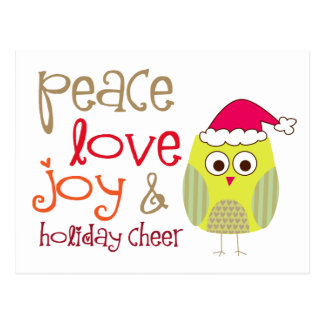 Holiday Cheer Owl, Post Card
