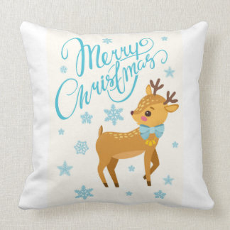 Holiday Cheer Reindeer Pillow