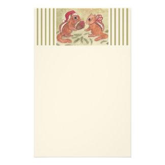 Holiday Chipmunks Stationery