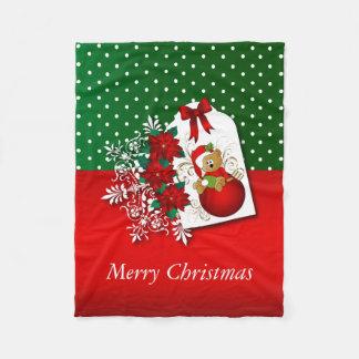 Holiday Christmas Bear Fleece Blanket