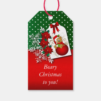 Holiday Christmas Bear Pack Of Gift Tags