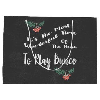 Holiday Christmas Bunco Gift Exchange Bag