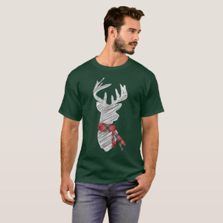 Holiday Christmas Festive deer with scarf T-Shirt
