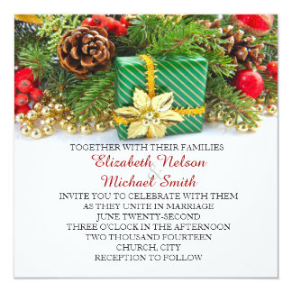 Holiday Christmas Gift Wedding Invite