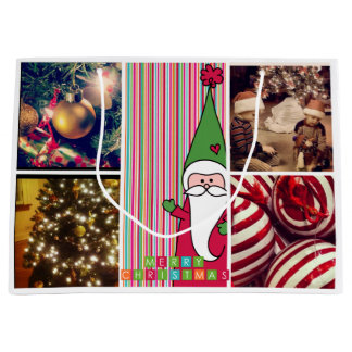 Holiday Christmas instagram Photo Gift Bags