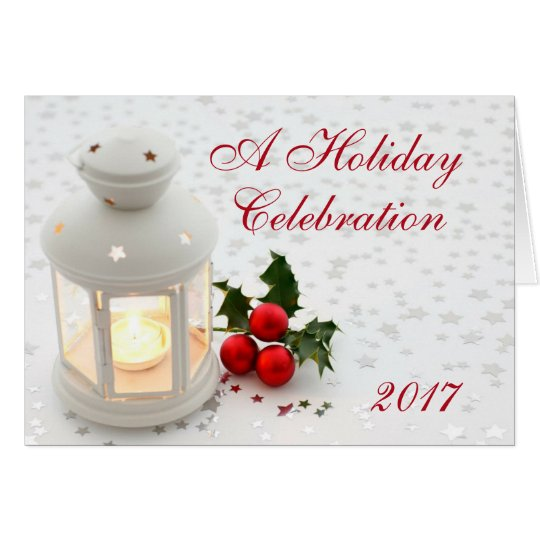 Holiday Christmas Lantern Party Invitation Comapny
