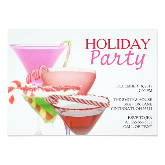 Holiday Christmas Party Invitation Cocktail Party