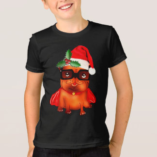 Holiday Christmas santa bulldog T-Shirt