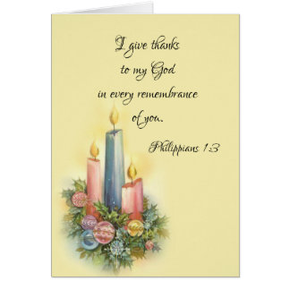 Holiday Christmas Thank You Scripture Card