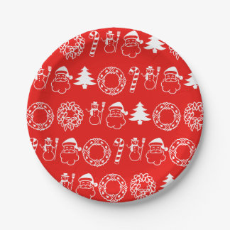 Holiday Christmas Themes 4Sandy Paper Plate