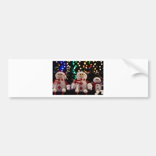 Holiday Christmas Tree Party Destiny Celebration Bumper Stickers