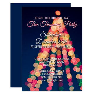 Holiday Christmas Tree Trimming Party Invitation