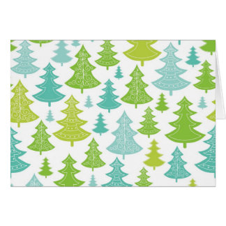 Holiday Christmas Trees Pattern Card