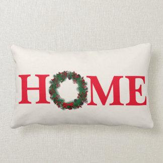 Holiday Christmas Wreath Throw Pillow