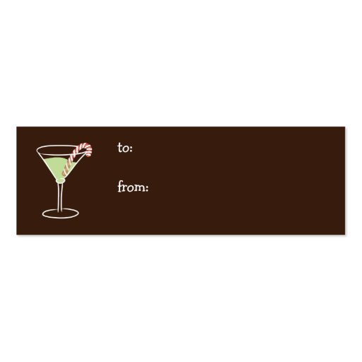 Holiday Cocktail Gift Tag Business Card Template