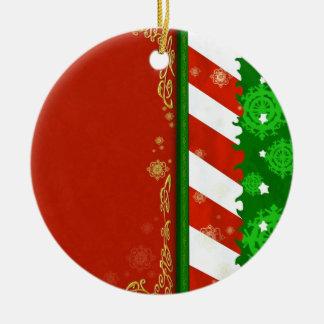 Holiday Colors Ceramic Ornament