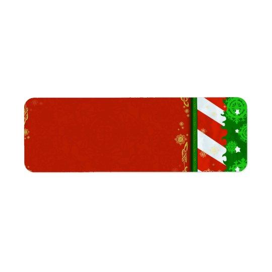 Holiday Colours Return Address Label