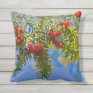 Holiday Conifer Throw Pillow