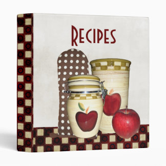 Holiday Cookbook Vinyl Binders
