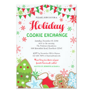 Cookie Swap Christmas Invitations Announcements Zazzle Ca
