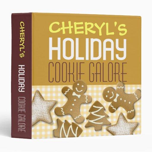 Holiday cookie galore custom recipe organizing vinyl binders
