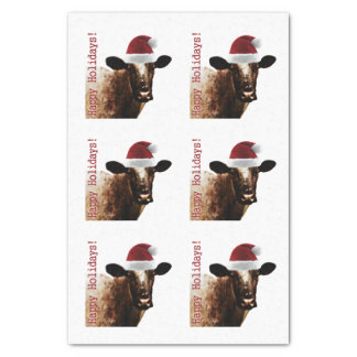 Holiday Cow Tissue Paper