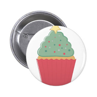 Holiday Cupcake 2 Inch Round Button