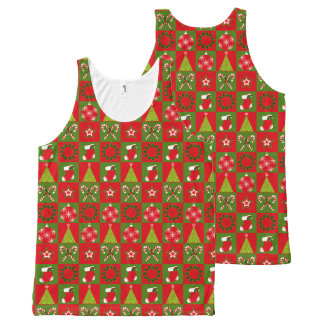 Holiday Decorative Squares All-Over-Print Tank Top
