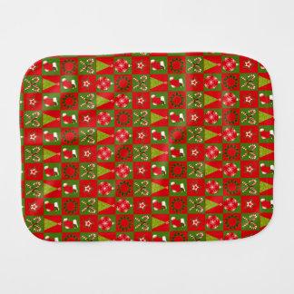 Holiday Decorative Squares Burp Cloth