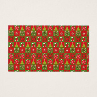 Holiday Decorative Squares Business Card
