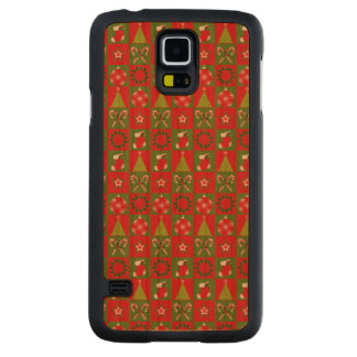 Holiday Decorative Squares Carved Cherry Galaxy S5 Case