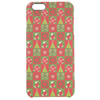 Holiday Decorative Squares Clear iPhone 6 Plus Case