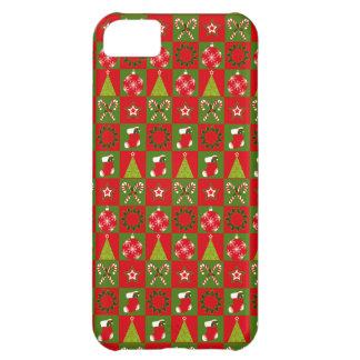 Holiday Decorative Squares Cover For iPhone 5C