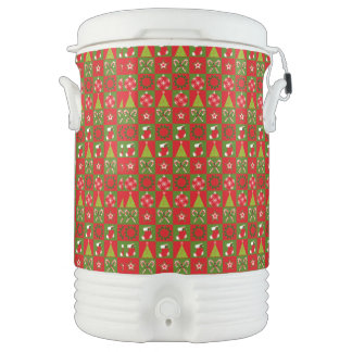 Holiday Decorative Squares Drinks Cooler