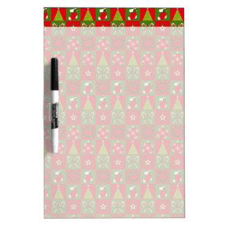 Holiday Decorative Squares Dry Erase Board