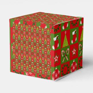 Holiday Decorative Squares Favor Box