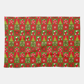 Holiday Decorative Squares Kitchen Towel