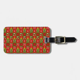 Holiday Decorative Squares Luggage Tag