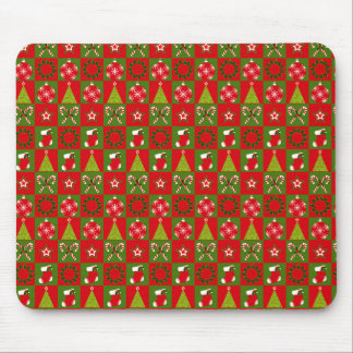 Holiday Decorative Squares Mouse Pad