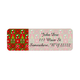 Holiday Decorative Squares Return Address Label