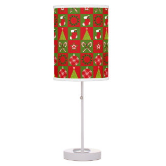 Holiday Decorative Squares Table Lamp
