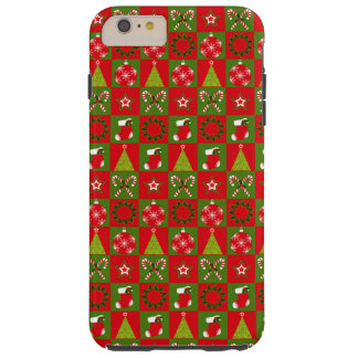 Holiday Decorative Squares Tough iPhone 6 Plus Case