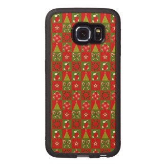 Holiday Decorative Squares Wood Phone Case